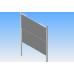 Kerámia krétás 200 X 100 oszlopállványos ellenmozgó rendszer mágneses alumínium keretes táblával